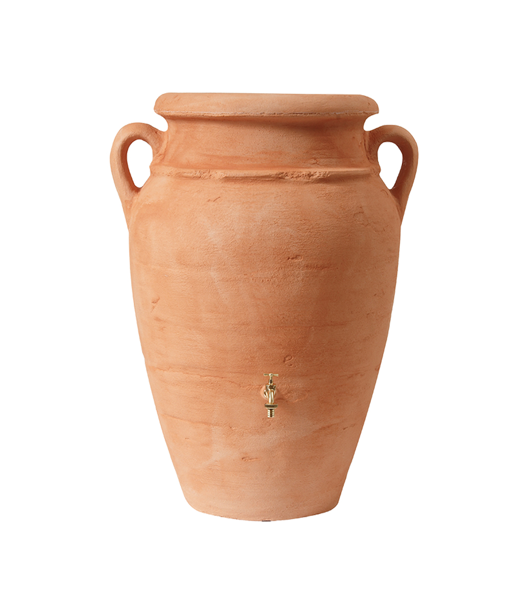 Antique Amphora Terracotta 250 Litre Water Butt Tank -9083