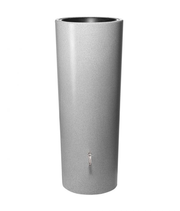 Anglian Water Direct, Aqualogic, Water Butts, Composters, Decorative Water Butts, Water Butt Treatment, Graf Silver 2 in 1 Decorative Water Butt Tank