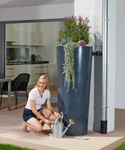 Anglian Water Direct, Aqualogic, Water Butts, Composters, Decorative Water Butts, Water Butt Treatment, Graf Stone Lava 2 in 1 Decorative Water Butt