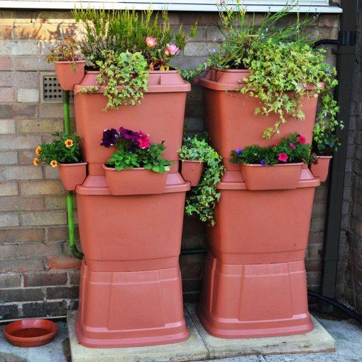 Anglian Water Direct, Aqualogic, Water Butts, Composters, Decorative Water Butts, Water Butt Treatment, Rainwater Terrace 3 Tier Water Butt